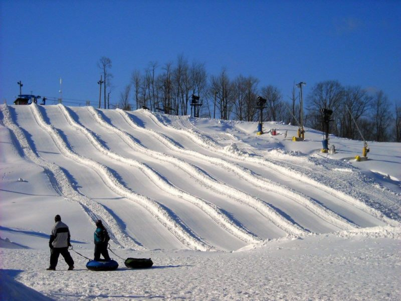 Snow tubing at Winterplace Ski Resort