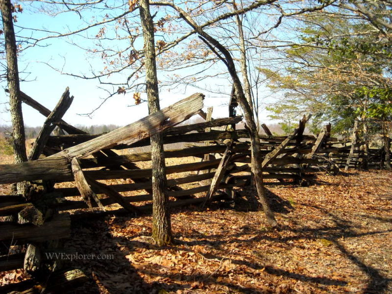 Preserved rail fence near Carnifex Ferry