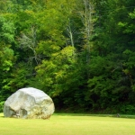 Standing stone in Doddridge County at Standing Stone Run, Heartland Region