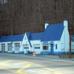 Pure Oil Station at Bramwell, WV, Mercer County, Bluestone Region