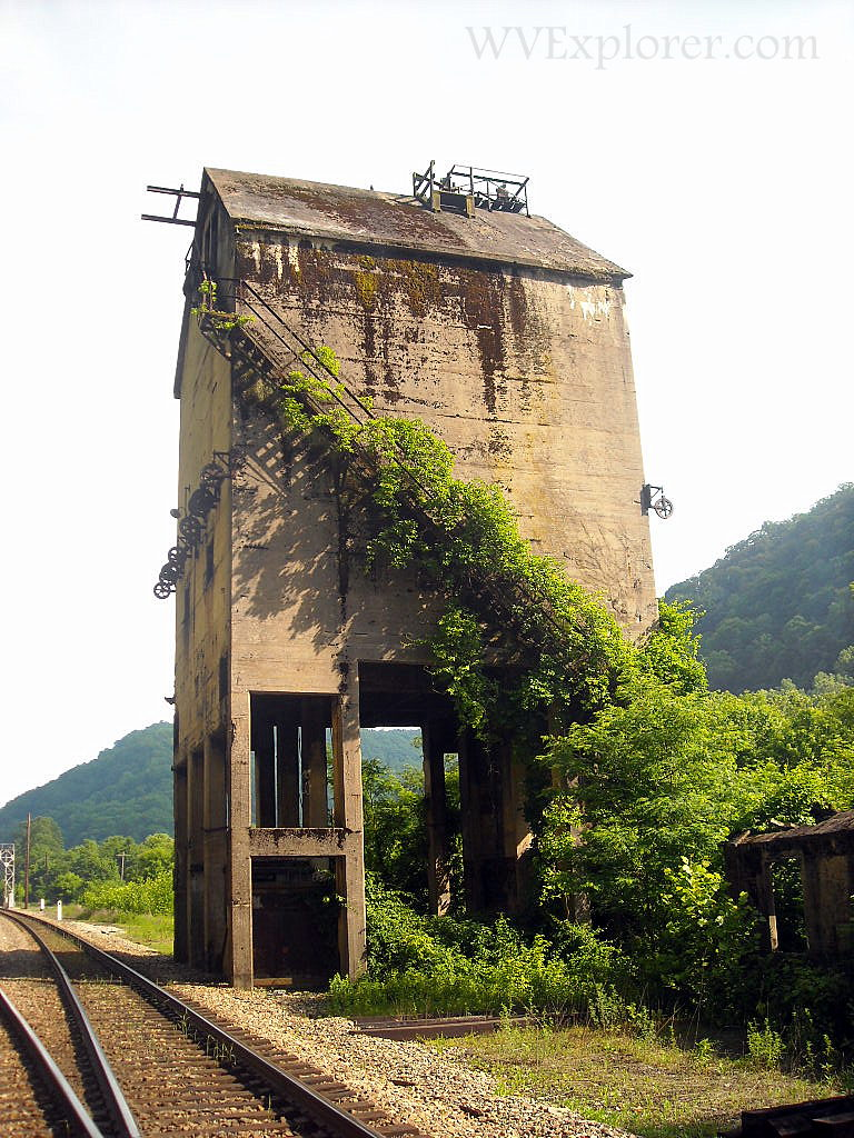 Vines on coaling tower at Thurmond