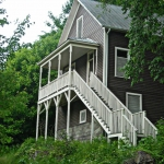 Preserved house in Thurmond, WV, Fayette County, New River Gorge National River, New River Gorge Region