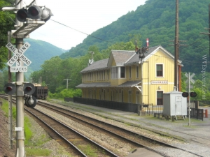 Restored train station at Thurmond, West Virginia, Fayette County, New River Gorge Region