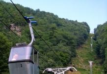 Tram at Pipestem Resort State Park, Pipestem, WV, Summers County, Bluestone Region