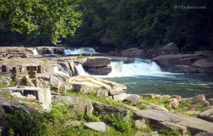 Falls at Valley Falls State Park, Marion County, Monongahela Valley Region