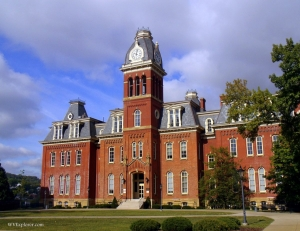 Woodburn Hall at West Virginia University in Morgantown, WV, Monongalia County, Monongahela Valley Region