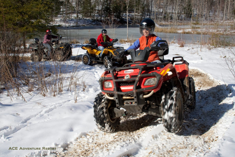 ATV touring in winter
