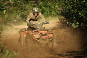 Mud hazard at ACE Adventure Resort, ATV Guides, New River Gorge