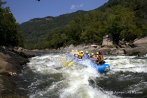 Rafters in lower New River Gorge, ACE Adventure Resort