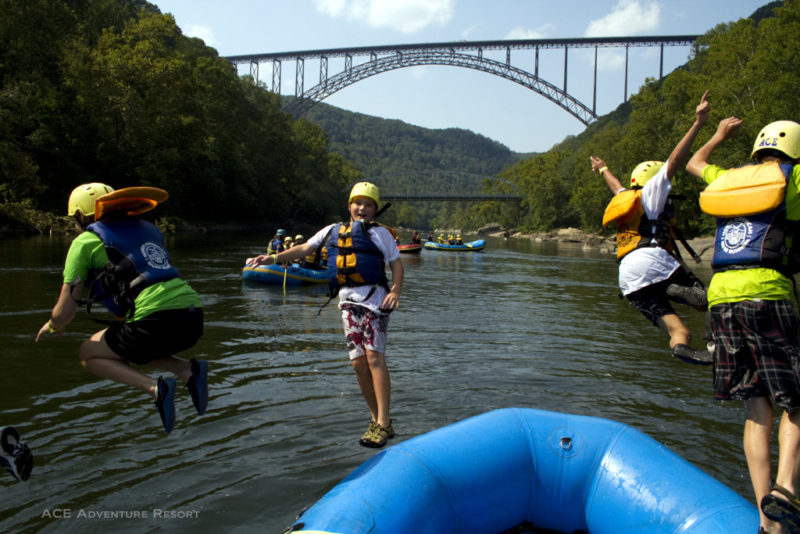 Young rafters leap into New River