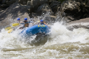 Rafters plow through rapid on New River, Whitewater Rafting, ACE Adventure Resort