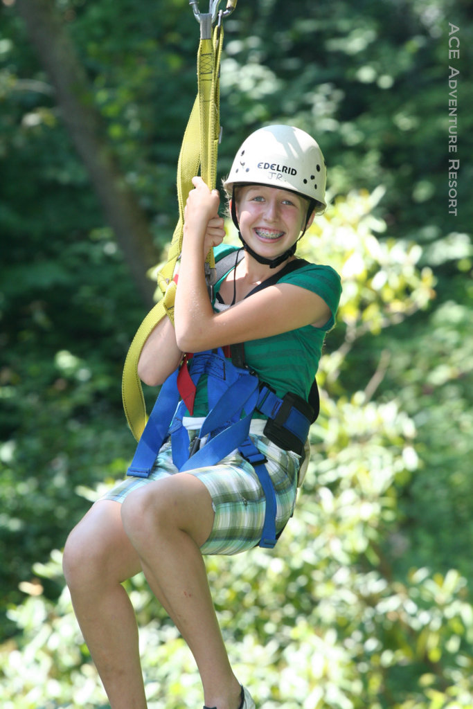 Young canopy-tour enthusiast at ACE
