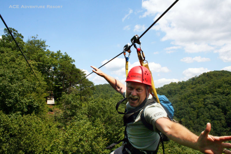 Canopy tour through the New River Gorge