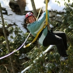 Winter zip-lining at ACE Adventure Resort