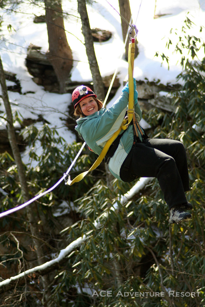 Winter Zip Lining At Ace Adventure Resort West Virginia