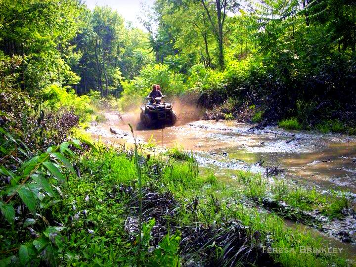 Plowing through mud near Toney Fork