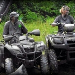 ATV riders near Oceana, WV, Wyoming County, Hatfield & McCoy Region.