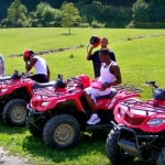 Basketball team at Burning Rock, ATV Tours at Burning Rock, Sophia, WV, Hatfield & McCoy Country
