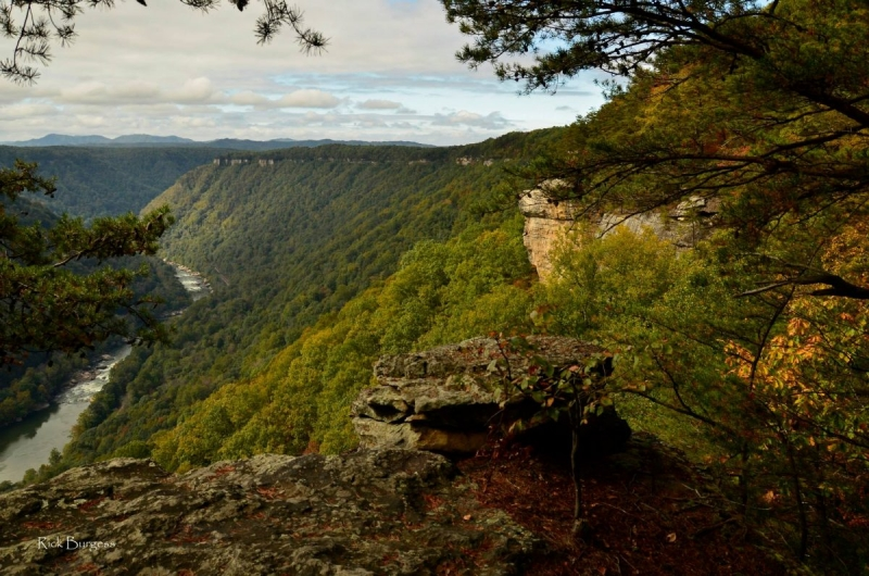 New River from Beauty Mountain by Rick Burgess, Fayette County, New River Gorge Region