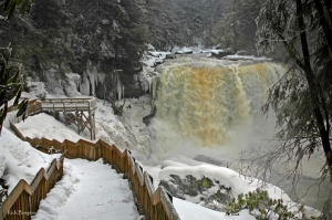 Ice at Blackwater Falls, Blackwater Falls State Park, Davis, WV, Allegheny Highlands Region