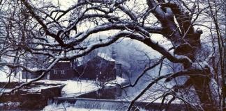 Winter at Bruceton Mills, WV, Preston County, Monongahela Valley Region