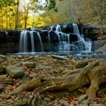 Autumn at Brush Creek Falls, Bluestone Region