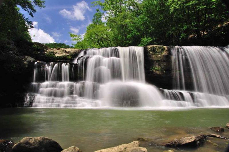 Summer at Peters Creek Falls