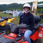 Girl on ATV at Burning Rock Outdoor Adventure Park, Tams, WV, Raleigh County, Hatfield & McCoy Country