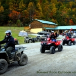 ATV riders at Burning Rock Outdoor Adventure Park, Sophia, WV, Hatfield & McCoy Region