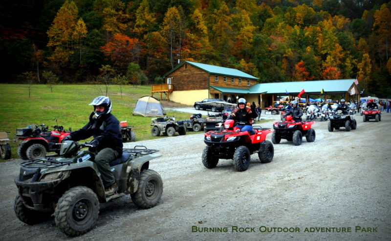 ATV parade at Burning Rock