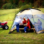 Picnickers at Burning Rock Campground, Sophia, WV, Hatfield & McCoy Region