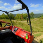 ATV on ridge at Burning Rock Outdoor Adventure Park, Sophia, WV, Hatfield & McCoy Region