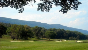 Golfers at Cacapon Resort State Park, Morgan County, WV, Eastern Panhandle Region