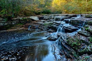 Campbell Falls at Camp Creek State Park, Mercer County, Bluestone Region