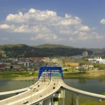 I-64 Bridge at Charleston, WV, Kanawha County, Metro Valley Region