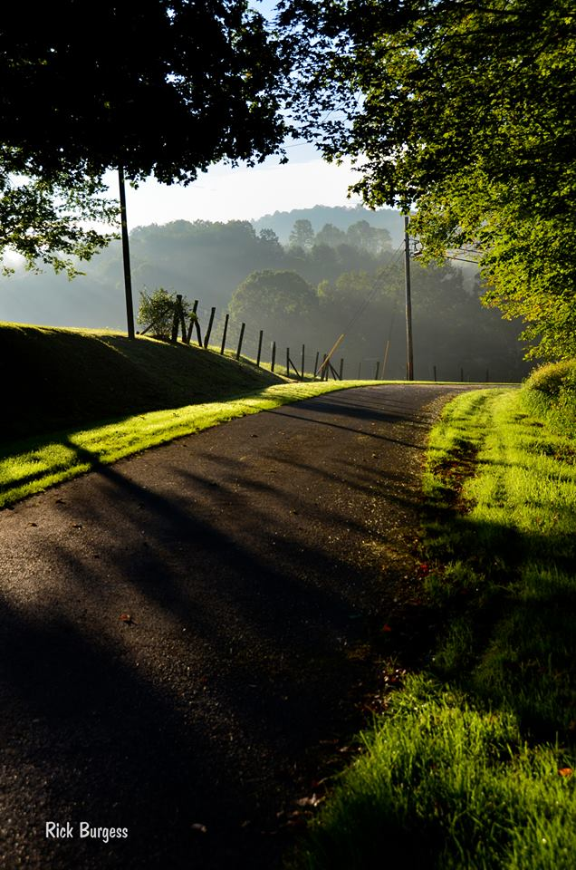Country road in Fayette County