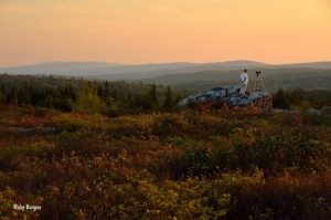 Photographer Dan Friend at Dolly Sods Wilderness Area, Monongahela National Forest, Allegheny Highlands Region
