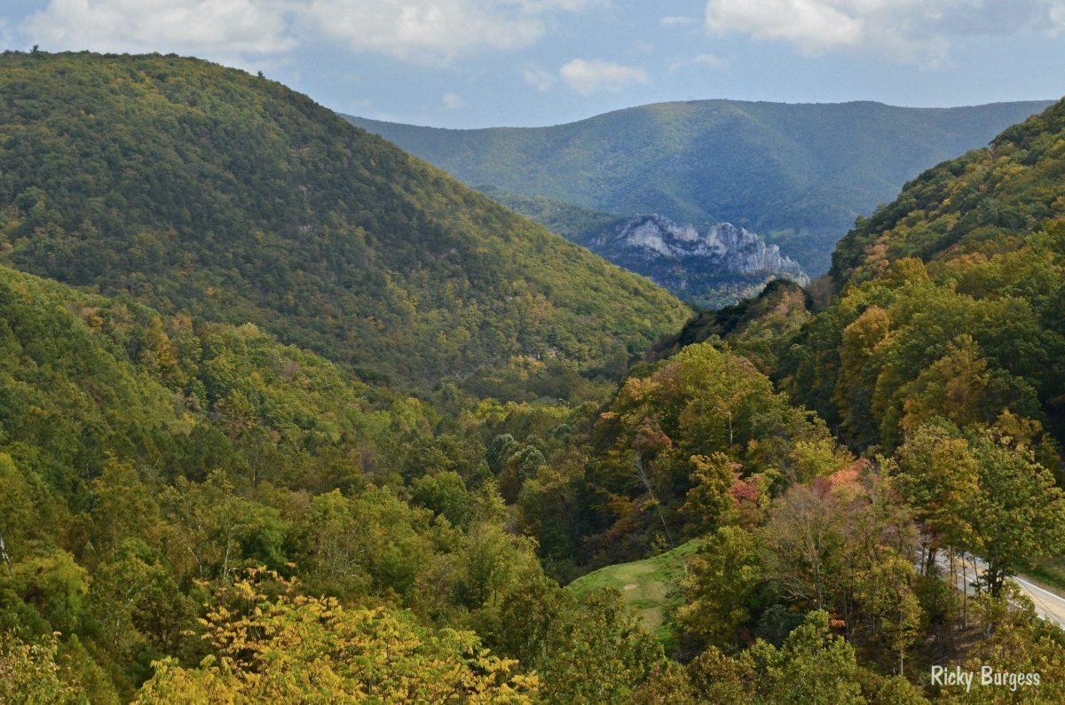 Seneca Rocks from Smith Mountain