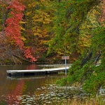 Dock on Plum Orchard Lake, Plum Orchard Lake Wildlife Management Area, New River Gorge Region