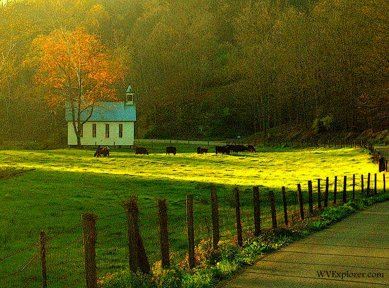 Rural church in Doddridge County