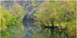 Elk River at Queens Shoals, WV, Clay County, Heartland Region