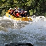 Paddling into a Gauley River rapid, Adventures on the Gorge