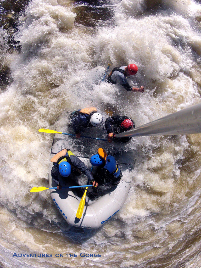 Mid-rapid run on Gauley River whitewater