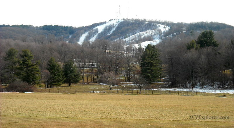 Snow lingers at Winterplace Ski Resort