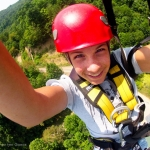 Zip-lining selfie, Adventures on the Gorge