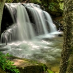 Upper Falls of Holly River, Holly River State Park, Webster County, Allegheny Highlands Region