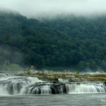 Fog at Kanawha Falls near Gauley Bridge, WV, Fayette County, New River Gorge Region