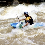 Kayaker on the lower New River, Adventures on the Gorge