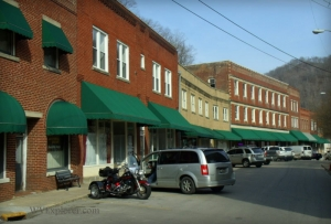 Storefronts in Matewan, West Virginia, Mingo County, Hatfield & McCoy Region