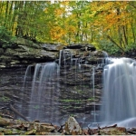 Middle Falls of Hills Creek, Pocahontas County, Allegheny Highlands Region